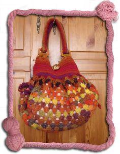 Defi>Grannys>Projets N° 78 sac boule granny terminé - Dane et le crochet