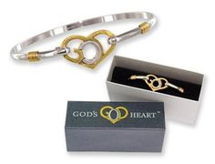God's Heart Clip Bangle Bracelet Gift Boxed by God's Heart. $12.99. Bangle bracelet featuring 'God's Heart' design. Bracelet comes in a gift box.