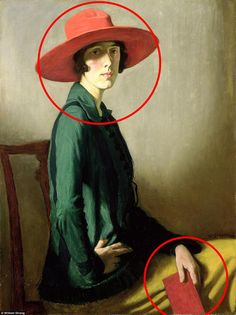 William Strang's Lady With A Red Hat (1918) is at first glance a simple portrait of writer and gardener Vita Sackville-West. But the red hat she wore - and the scarlet book she held in one hand - hinted at the decade-long affair Vita had with Virginia Woolf