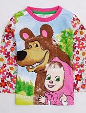 Girl's T shirt Round Collar Cartoon Floral Pr... – EUR € 7.73