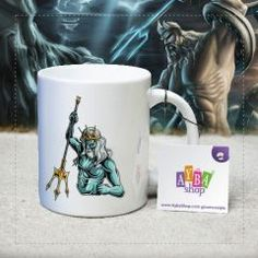 Poseidon Tasarımlı Porselen Kupa Baskı Mugs, Tableware, Dinnerware, Tumblers, Dishes, Mug, Cups