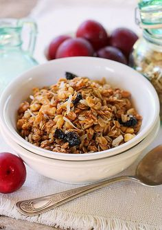 Crock Pot Granola - yet another delicious recipe you can make in the crock pot! The recipe is delicious, extremely easy and very versatile.