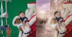 Photographer and digital artist Karen Alsop wanted to bring Christmas cheer to sick children, so she decided to use her photography and Photoshop skills to