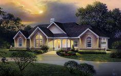 Plan 57226HA: Atrium Ranch Home Plan