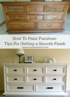 how to paint furniture – DIY tips for getting a smooth finish. how to paint furniture – DIY tips for getting a smooth finish. Old Furniture, Refurbished Furniture, Repurposed Furniture, Furniture Projects, Furniture Making, Home Projects, Furniture Stores, Furniture Update, Furniture Refinishing