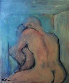 "Saatchi Online Artist: Ventura Castro; Oil, Painting ""Kiss"""