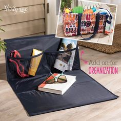 Thirty-One Gifts – The Large Utility Tote\'s Best Friend!  #ThirtyOneGifts #ThirtyOne #Monogramming #Organization #May2017Special #LargeUtilityTote #StandTallInsert