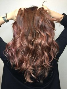 Rose gold balayage…it's really look like waterfalls