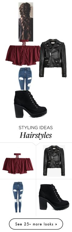 """Untitled #9784"" by lover5sos on Polyvore featuring Topshop and Yves Saint Laurent"