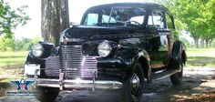"""The 1940 Chevrolet Master was completely redesigned from the 1939 Chevrolets.  This 1940 Chevrolet Master Deluxe Sedan featured an """"alligator"""" hood and the grille bore a strong resemblance to that of the higher-priced Buick."""
