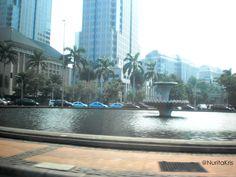 """""""Bunderan HI"""" centre d'affaires de #Jakarta. #voyage"""