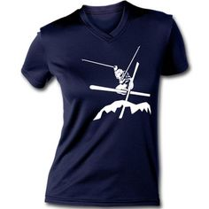 Airborn Skiing Women's V-Neck Performance Tee