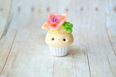 Kawaii Succulent Cupcake - Charm, Polymer Clay Charm, Jewelry, Food Jewelry, Pendant, Cute