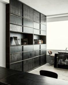 Warm, masculine office interior.  detected by Voxx-Interior.com
