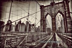 Brooklyn Bridge at Sunrise New York City 2015 by TheArtsofTimeandLife-NOCTURNAL ECHO IMAGERY