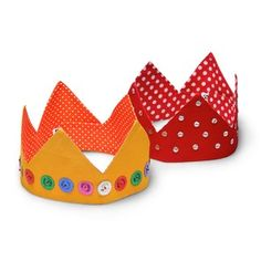 Sequinned Christmas Crowns - Set of 2 $16.95 This set of two colourful crowns are made in India from 100% cotton and come in red and yellow. Follow the link to order a set today. http://www.oxfamshop.org.au/bookscardswrap/decorations #oxfam #oxfamshop #fairtrade #shopping #homedecor #decorations