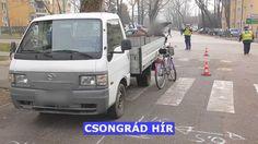Egy kerékpáros nő súlyosan megsérült, amikor elütötte egy kisteherautó Csongrádon a Fő utcán Vehicles, Car, Vehicle, Tools