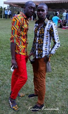 Brothers new Ankara vintage men's line- celebrate other cultures, and don't be afraid of color, it makes you unique, and you seem more worldly (we ladies luuuv worldly! African Inspired Fashion, African Print Fashion, Africa Fashion, African Attire, African Wear, African Style, African Beauty, African Women, Kitenge