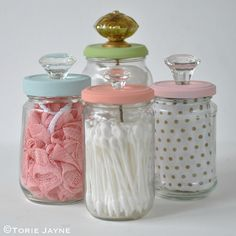 Upcycled Jars with Knobs 3 | Blogged at Torie Jayne.com Blog… | Flickr