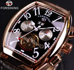 c3f8509074d Item Type  Mechanical Wristwatches Brand Name  FORSINING Case Material   Stainless Steel Clasp Type