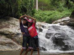 Fun at the waterfalls
