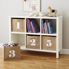 Kids Storage: Canvas Number Storage Bins in Storage Collections | The Land of Nod... maybe 7277