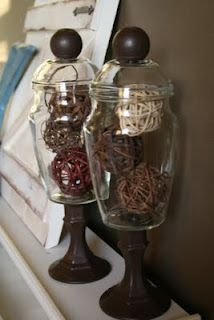 DIY apothecary Jars made from dollar store finds-simple.