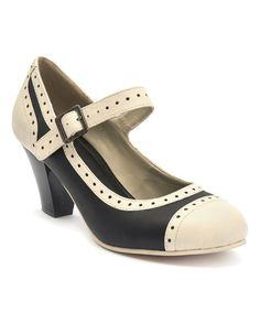 Lola Ramona Black & Cream Elsie Mary Jane | zulily
