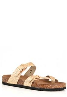 02466d425d8 Outwoods+Bork+Double+Buckle+Sandals+for+Women+in+Glitter+Gold+21326-507+GOLD