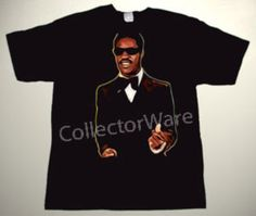 STEVIE WONDER drawing 1 CUSTOM ART UNIQUE T-SHIRT Each T-shirt is individually hand-painted, a true and unique work of art indeed!  To order this, or design your own custom T-shirt, please contact us at info@collectorware.com, or visit http://www.collectorware.com/tees-stevie_wonder.htm