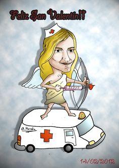 Ilustración personalizada para San Valentín!  Personality ilustration for Valentine's day