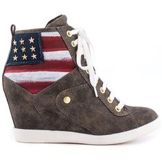 Guess Shoes Jaxid 2 - Brown Multi LL ($120) ❤ liked on Polyvore