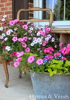 French Country on the Front Porch | Hymns and Verses