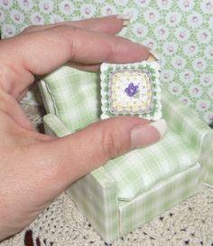 Tiny crochet pillow