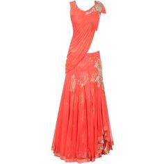 Bridal Lehenga Cholis | Bridal Lehenga Designs | Wedding Lehengas ❤ liked on Polyvore featuring dresses