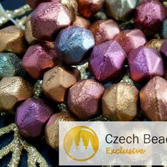 Mix Rustic Fired Matte Violet Rainbow Czech Glass Faceted Pentagon Beads 9mm x 11mm 12pcs