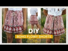 DIY BOHO FLOWY SHORTS | pacifically - YouTube