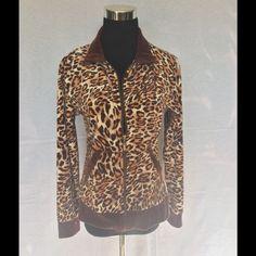 Erika Leopardprint jacket size small Erika leopardprint jacket size small is soft luxurious velour. Erika Jackets & Coats