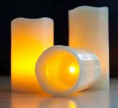I love these remote control votive candles.  They're gorgeous and I won't burn the house down by using them.