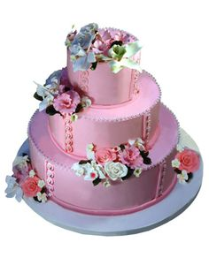 Pink Pearl Quince Cake with Flowers