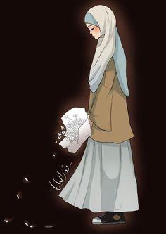anime hijab images, image search, & inspiration to browse every day. Hijabi Girl, Girl Hijab, Muslim Girls, Muslim Women, Hijab Drawing, Islamic Cartoon, Hijab Cartoon, Islamic Girl, Muslim Hijab