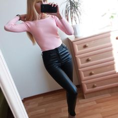 68e380d1889fd Women Thin Velvet PU Leather Pants Autumn Winter Female Sexy Elastic  Stretch Skinny Tight Faux Leather Pencil Pants Trouser