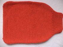Strampelsack Merinowolle 50cm gestrickt Pucksack