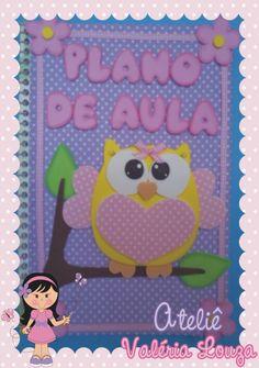 Caderno decorado com tecido e EVA  ou Capa de caderno removível em tecido e EVA…