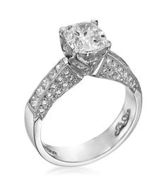 JB Star- Forever Rose Platinum Channel & Pave Diamond Setting
