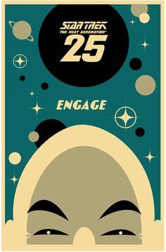 Star Trek: The Next Generation's 25th Anniversary print - Picard