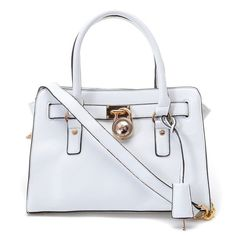 Michael Kors Smooth Outlook Small White Totes | See more about michael kors, michael kors hamilton and bags.