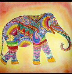 Coloring Books Colouring Johanna Basford Animal Kingdom Elephants Livros Pintura Vintage Elephant Milliemarotta