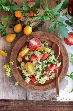 kasza jaglana z pomidorami Gluten Free Recipes, Cobb Salad, Free Food, Food And Drink, Lunch Ideas, Cooking, Breakfast, Fitness, Kitchen