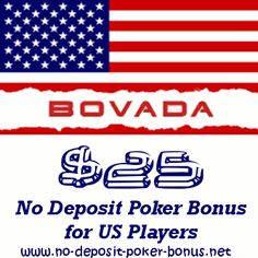 No Deposit Poker Bonus for US Players at Bovada Poker, the us friendly brand of the bodog poker network